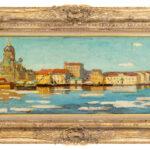 Гауш Александр, «Вид на Исаакиевский собор с Невы», 1890-е гг.
