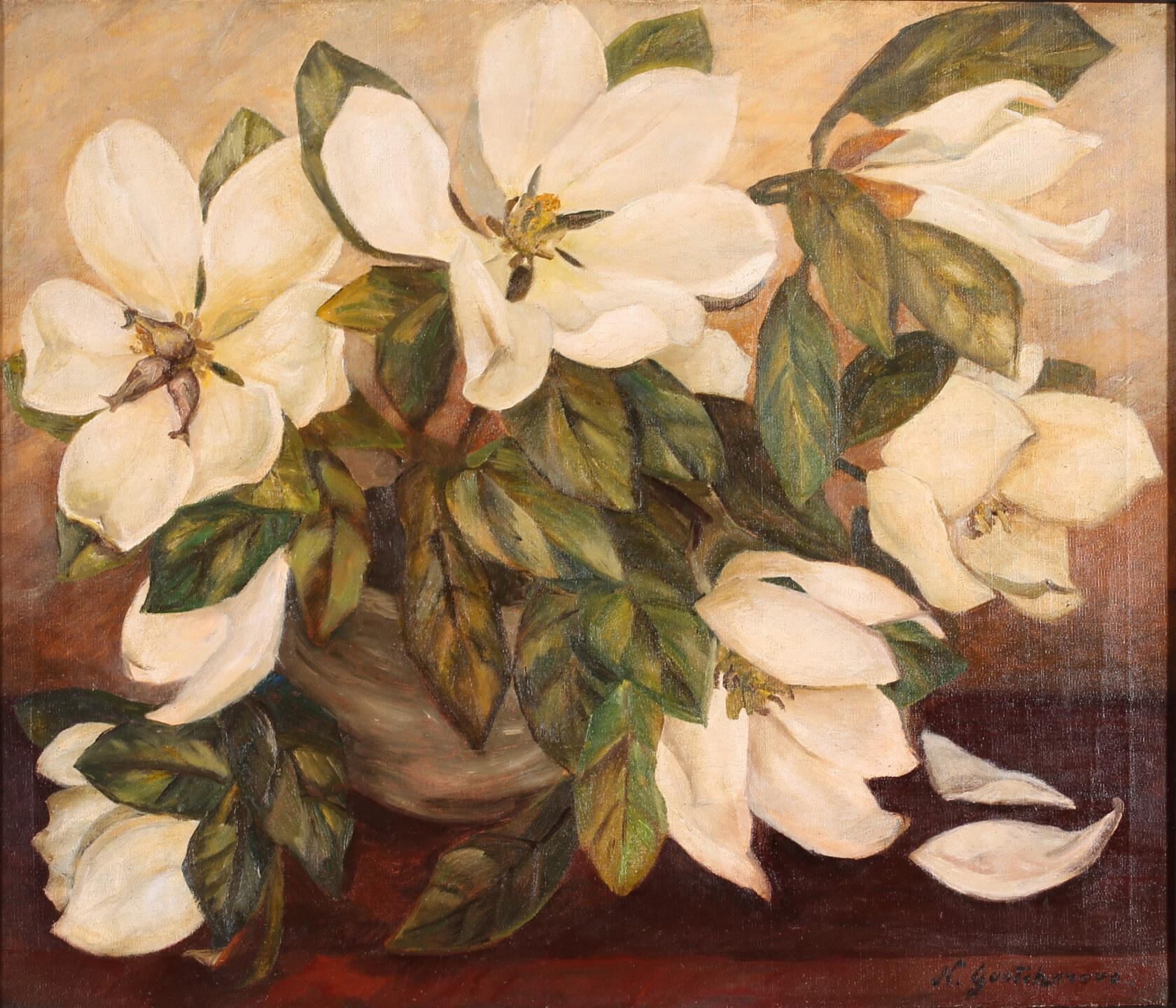 Гончарова Наталья Сергеевна (1881-1962) Букет белых магнолий. 1930-е