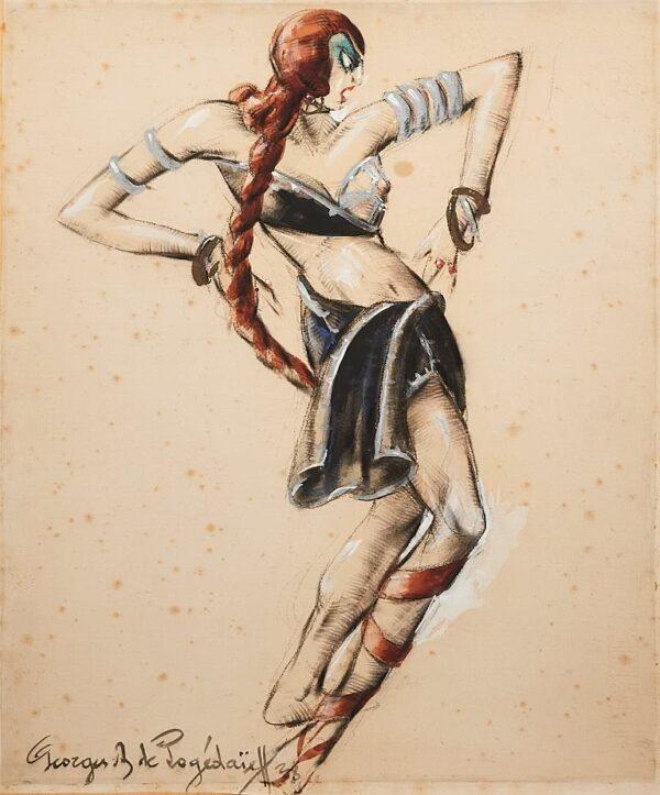Пожедаев Георгий Анатольевич (1897-1971) Эскиз костюма 1938 г.