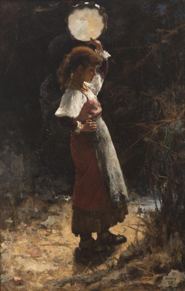 Харламов Алексей Алексеевич , «Итальянка с тамбурином» 1870-е