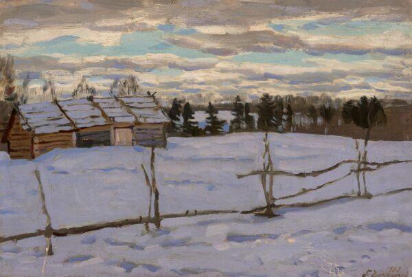Жуковский Станислав Юлианович «Зимний день» 1903