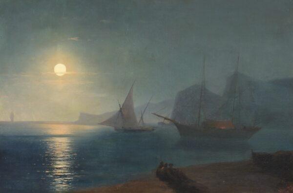 Айвазовский Иван Константинович «Лунная ночь» 1875 г.