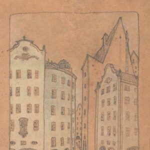 Лукомский Георгий Крескентьевич «Пейзажи Аугсбурга» 1920-е