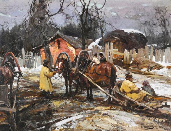 Колесников Степан Фёдорович «Подворье» 1916 г.