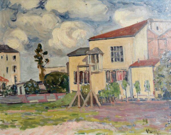 Альтман Александр, Городской пейзаж, 1911 г.