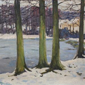 Альтман Александр, Деревья на берегу реки, 1910-е