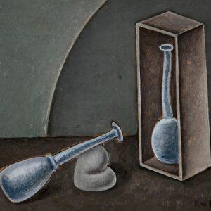 Краснопевцев Дмитрий Михайлович «Натюрморт с двумя сосудами» 1968 г.