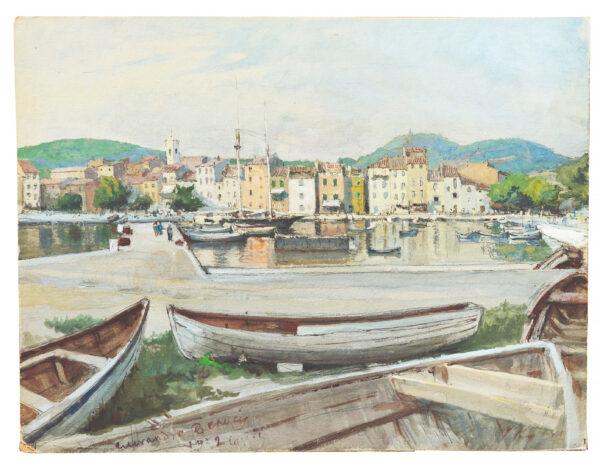 Бенуа Александр, «Порт в Кассис», Франция 1929 г.