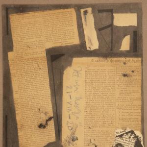 Анненков Юрий, «Коллаж к театральным новостям» 1922г.