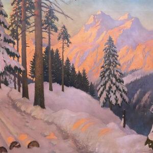 Гермашев Михаил, «Закат в Альпах», 1920-е гг.