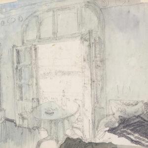 Бенуа Александр, «Вид на гавань Санари-сюр-Мер из открытого окна. Франция» 1922 г.