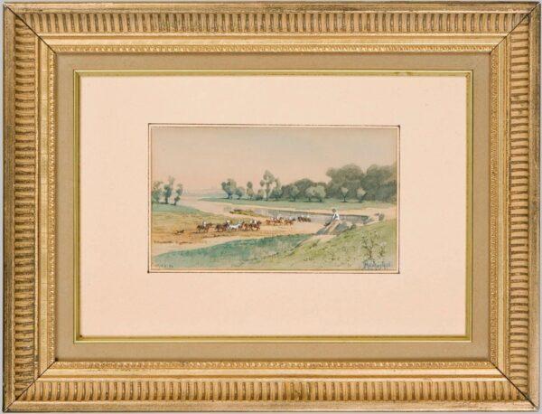 Прянишников Иван, «Кавалерия у реки Ингул» 1880-е гг.