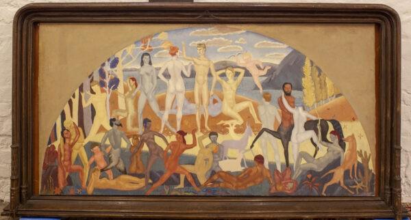 Яковлев Александр, «Эскиз для фрески в интерьер океанского лайнера Иль-Де-Франс» 1920-е гг.