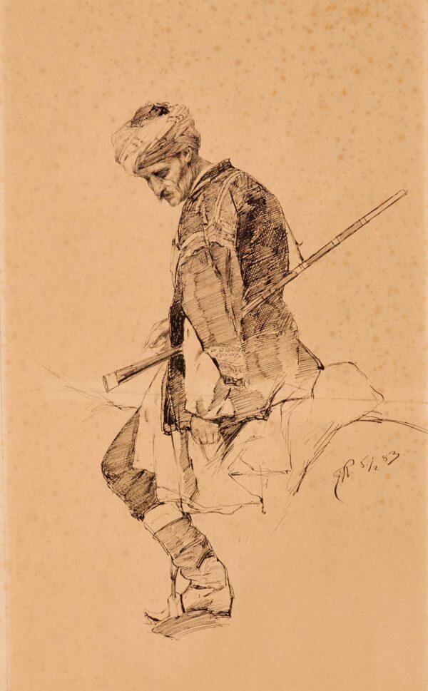 Рубо Франц, «Черкесский всадник»1883 г.