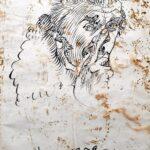 Зверев Анатолий Тимофеевич, «Автопортрет» на обороте «Купальщица» 1956 г.