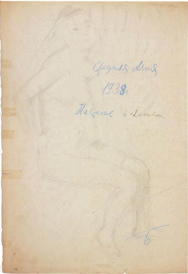 Фальк Роберт, «Обнаженная» 1930-е гг.